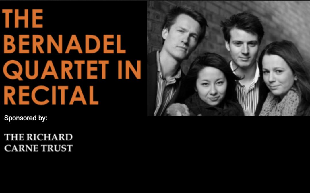The Bernadel Quartet in Recital