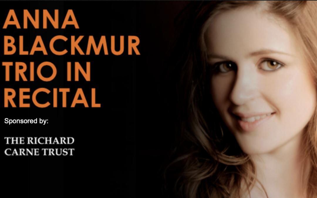 Anna Blackmur Trio in recital